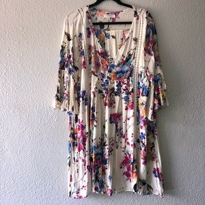 Umgee Floral Boho Dress
